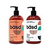 Basd Organic Moisturizing Body Wash & Lotion, Invigorating Mint, Natural Skin Care, Vegan, Hypoallergenic, 15.2 Ounce Bottles