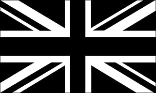 American Vinyl Black Jack Flag Sticker (Union UK bw White British Britain)