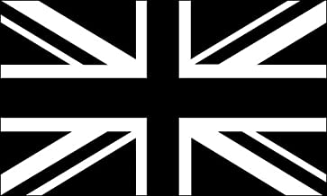 American Vinyl Black Jack Flag Sticker (Union UK bw White British Britain)