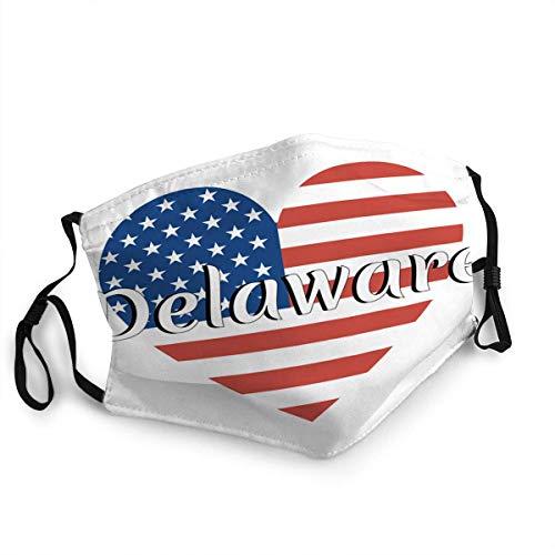 Herzförmige Nationalflagge der USA, wiederverwendbar, waschbar, multifunktional, verstellbar