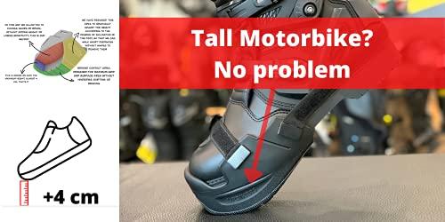Upbikers - Accessorio per motociclisti per raggiungere meglio il pavimento dalla moto