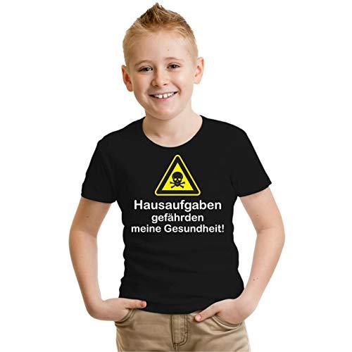 Kinder T-Shirt Hausaufgaben gefährden Meine Gesundheit Größe 86-164
