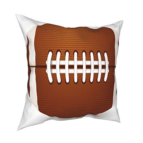 XChicShop 12x12 Pillow Covers Set of 2 Sports Ball American Football 1 Throw Pillow Covers Decorative Couch Pillow Cases Shams Soft Standard Zippered Square Cool Printed Pillowcase Cushion Covers