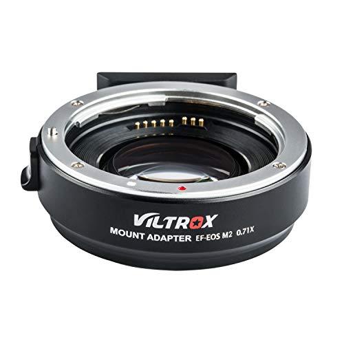 VILTROX EF-EOS M2 Adaptador de Lente con Enfoque Automático, 0.71x Convertidor de Speed-Booster para Canon EF Lens a cámaras Canon EOS-M (EF-M Mount) M M2 M3 M5 M6 M10 M50 M100
