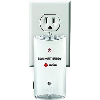 American Red Cross Blackout Buddy Emergency LED Flashlight, Automatic Blackout Alert & Nightlight , Pack of 2