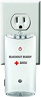 American Red Cross Blackout Buddy Emergency LED Flashlight, Automatic Blackout Alert & Nightlight , Pack of 2