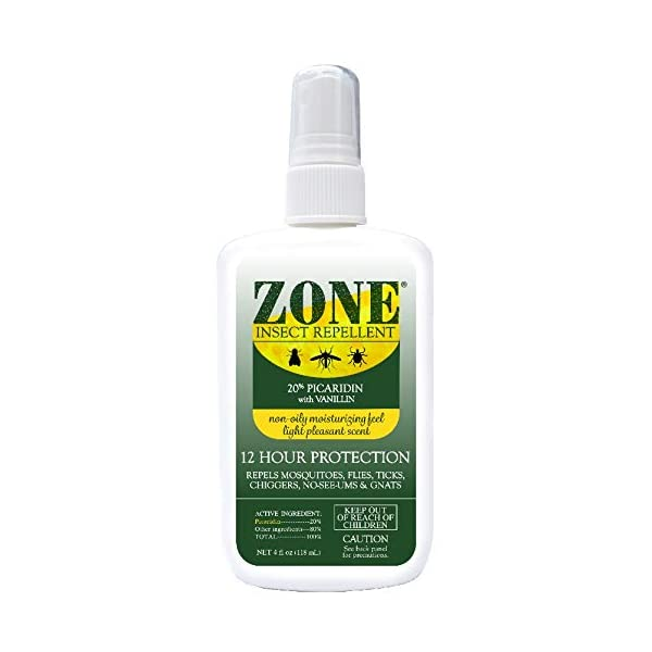 Zone Repellent Bug Spray | Flea, Tick, Mosquito Picaridin Insect Repellent Spray | DEET-Free Bug Repeller | 4 oz Spray Bottle