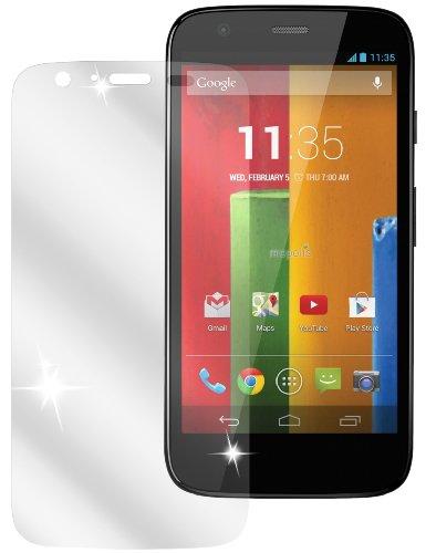 dipos I 2X Schutzfolie klar kompatibel mit Motorola Moto G Folie Bildschirmschutzfolie