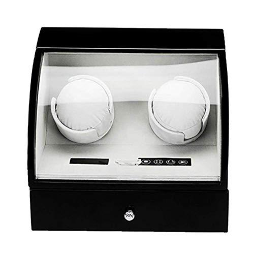 Manyao Watch Winder automática for 2 Relojes con Pantalla Japonesa Mabuchi Motor Caja de la Caja