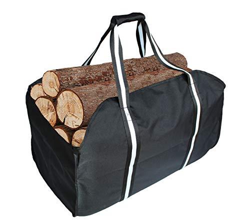 Premium Kaminholzträger & Tragetasche, extra groß, langlebig, ideal für Kamine, Holzöfen, Brennholz, Holzscheite, Camping, Strand, Landschaftsbau