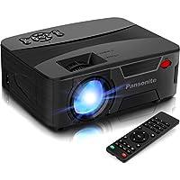 Pansonite 5200 Lux Full HD 1080p Mini Portable Projector (Black)