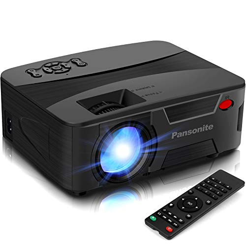 Pansonite Mini Projector Portable Projector for Outdoor Movies and Home Theater Support 1080P and Max.200