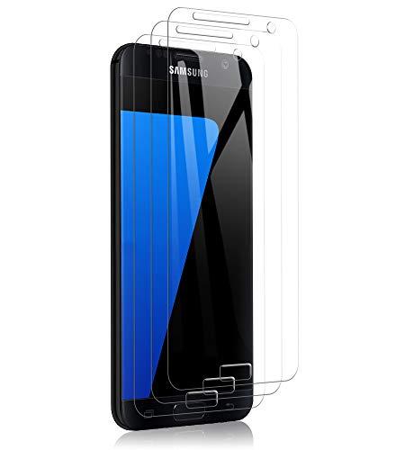 A-VIDET 3 Stück Panzerglas Schutzfolie für Samsung Galaxy s7, 9H Härte Schutzfolie Anti-Kratzer/Anti-Öl/Anti-Bläschen/Anti-Staub Displayfolie Panzerglasfolie für Samsung Galaxy s7