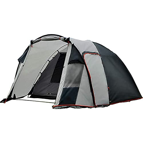 3-4人のキャンプテント、二重層大家族のテント、ビーチのハイキングのためのキャリーバッグが付いている超軽いバックパッキングテント