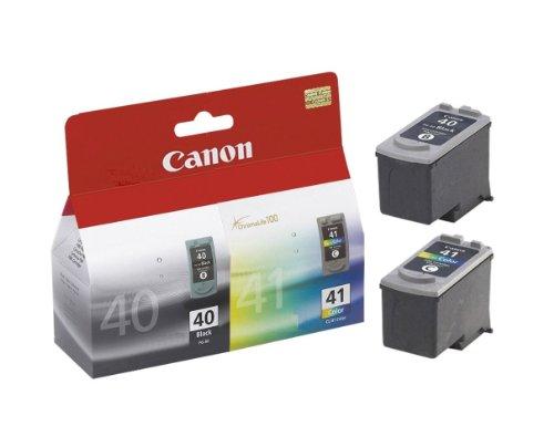 Canon PG-40+CL-41 Cartuchos de tinta original BK+Tricolor para Impresora de Inyeccion de tinta Pixma iP1200-iP1300-iP1600-iP1700-Ip2200-MP150-MP160-MP170-MP180-MP460