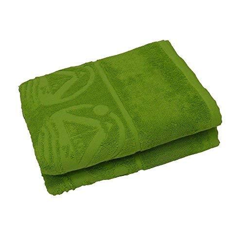 Outdoor Beachfex, telo mare, telo da bagno, asciugamano da palestra extra large, in verde o blu, realizzato in cotone di alta qualità. Verde.