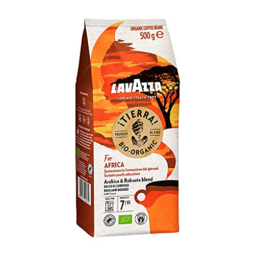 Lavazza ¡Tierra! For Africa Arabica & Robusta Blend Caffè Crema, 500g