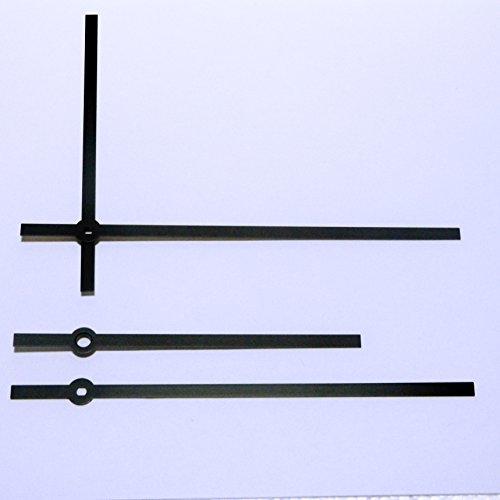 Aiguilles noires pour horloge, pour mouvement d'horloge UTS (montage Euroshaft), aiguilles en métal de 140 mm