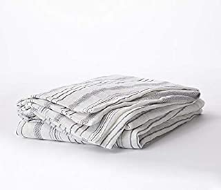 Bokser Home Linen Shams — Super Soft 100% French Linen | Cool & Breathable for Summer | Luxurious & Cozy for Winter | Rear Envelope Closure | Certified Chemical-Free (King, Stripe)