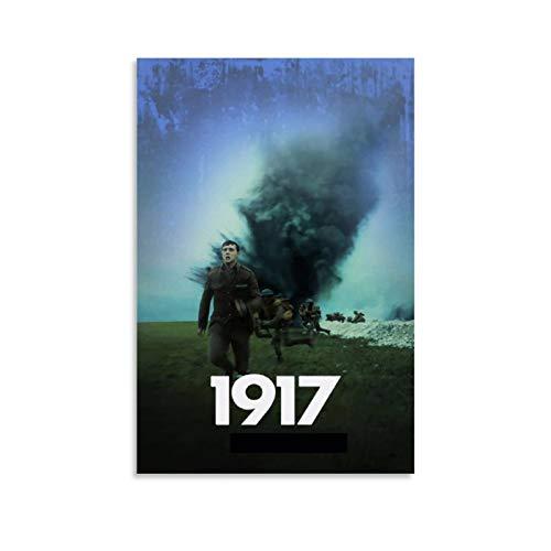 STTYE Póster de película de 1917 para pared, 40 x 60 cm, póster de película Time Is The Enemy for Pared and Friends