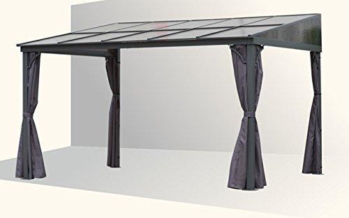osoltus Alu Pavillon Terrassendach Toledo Hardtop 3x4m anthrazit