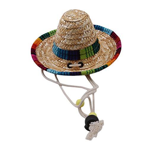LJJYD Mini Sombrero Strohhut Party Hüte Mexikanische Hut Party Dekorationen Kostüm Hüte für Kinder Puppen Haustiere