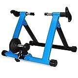 Klevsoure Caballete con Control inalámbrico para Rueda de Bicicleta de 66 a 71 cm. para Spinning, Ejercicio, Fitness y Entrenamiento (Azul)