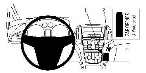 Brodit ProClip 854437 Staffa per Auto ad Incastro, Angled Mount