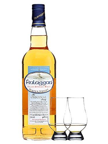 Finlaggan The Original Peaty Islay Single Malt Whisky + 2 Glencairn Gläser