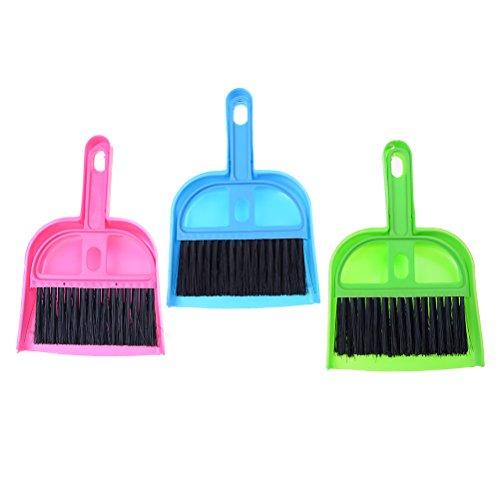 37YIMU Mini Cleaning Brush and Dustpan Set Desktop Sweep Broom for Computer Keyboard Desktop Car Table, Set of 3