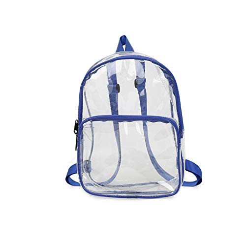 SicongHT Women Transparent Versatile Fashion Multi-Purpose Book Bag Student Travel Backpack(Blue)
