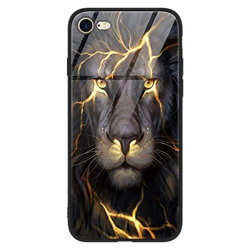 Yoedge iPhone 6 Plus Cover, [Ultra Sottile] con Modello Disegni Custodia in Vetro Temperato [Morbido TPU Bordo in Silicone] Bumper Case Protettiva per Apple iPhone 6 Plus / 6S Plus, Tigre