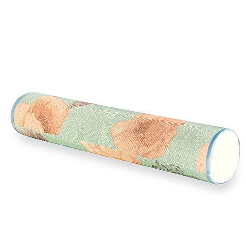 Almohada Redonda pequeña Natural de látex con Memoria para Adultos, Almohada para el Cuello y la Columna Cervical, Transpirable, cómoda, Especial para Dormir y Dormir (Color : B)