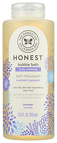 The Honest Company Truly Calming Lavender Bubble Bath Tear Free Kids Bubble Bath Naturally Derived Ingredients & Essential Oils Sulfate & Paraben Free Baby Bath 12 Fl Oz
