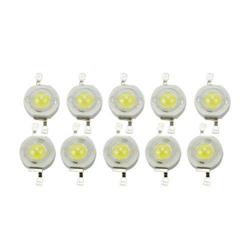 Pinzhi - 10pcs 3W Diodos Emisores de Luz LED Beads de Lámpara Blanco Frío 6000K-6500K
