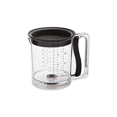 Amco 4-Cup Easy Release Fat/Gravy Separator, Black