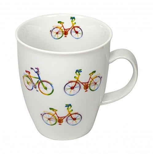 Cup und Mug Becher Regenbogen Fahrrad 400ml
