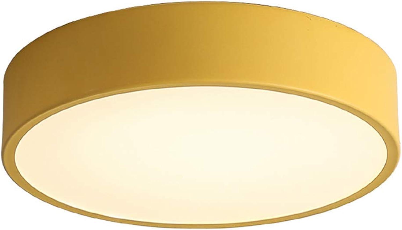 FuweiEncore Führte runde Deckeneinbauleuchte, ultradünne Acryl-Deckenmontage-Leuchte Schlafzimmer Wohnzimmer Baby room-50x50cm Gelb-Verdunkelung (Farbe   50x50cm, Gre   Gelb-dimming)