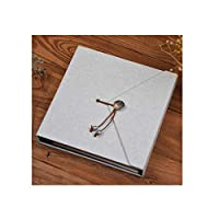 フォトアルバム、手作りクリエイティブDIY自家製フォトアルバム、ギフト用の箱、誕生日プレゼント、卒業プレゼント25.5x26cm (Color : Gift box- blue)