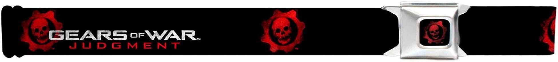 Gears of War Judgment Crimson Omen Logo Seatbelt Mesh Belt