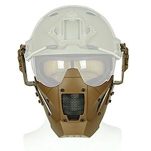 41Wcf+5g4wL. SS300  - OAREA Jay Fast Tactical Airsoft Paintball Iron Warrior Media mascarilla de un Solo Uso con Casco rápido Protección Militar Ciclismo al Aire Libre