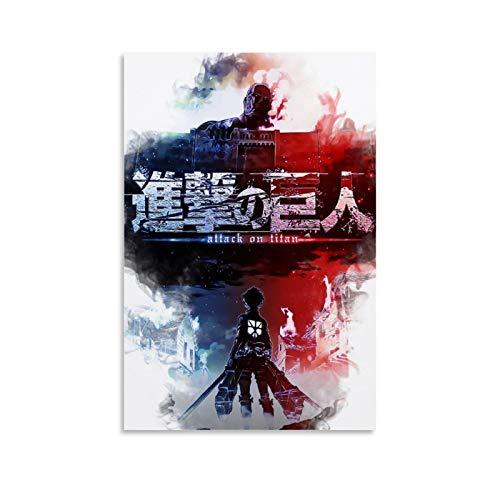 one1love Lienzo artstico para decoracin de pared, diseo de ataque de anime sobre tin, 50 x 75 cm, sin marco