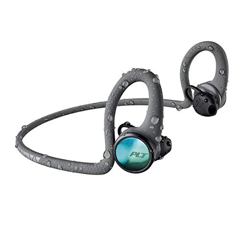 Plantronics 212201-99 Backbeat FIT 2100 Wireless Headphones, Sweatproof and Waterproof In Ear Workout Headphones, Grey