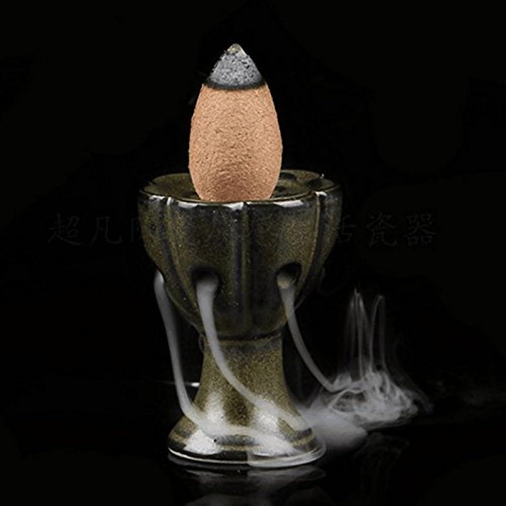 どれでもコメント心理学attachmenttou 仏教サンダルウッドコーン ホームデコレーション 逆流香炉クラフト 釉薬香炉ホルダー ミニロータスセラミック