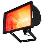 mounted electric infrared halogen heater
