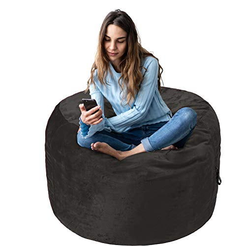 AmazonBasics Memory Foam Filled Bean Bag Chair with Microfiber Cover - 3', Gray