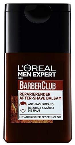 L'Oréal Men Expert Barber Club reparierender After-Shave Balsam, Beruhigt und belebt nach Rasur Beugt Rötungen, Hautirritationen und Pickeln vor (1 x 125 ml)