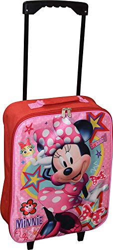 Disney Junior Minnie Mouse 15' Collapsible Wheeled Pilot Case - Rolling Luggage