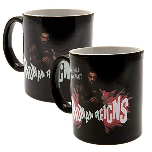 GB eye Ltd WWE, Roman Reigns, Taza Que Cambia con el Calor, Madera, Varios, 15 x 10 x 9 cm