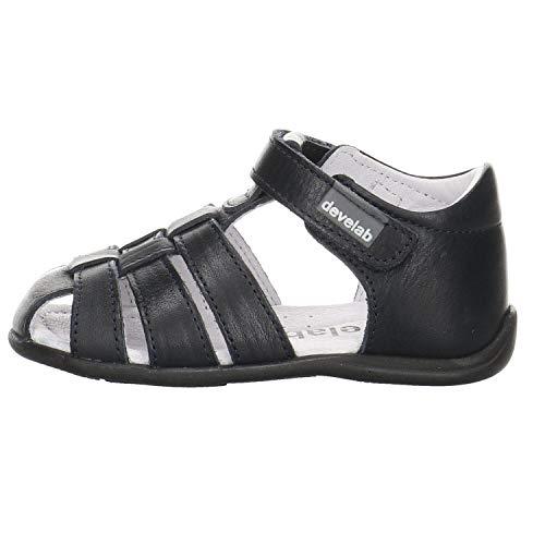 Develab Baby - Mädchen Sandalen Sandale Leder blau Gr. 24